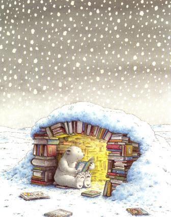 joli ours lit un livre